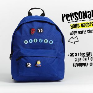 Personalised Kids Backpack in Blue